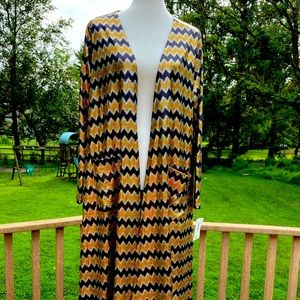 Gold,black and silver long sweater -LuLaRoe
